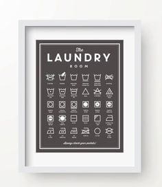 Hang a chart of laundry symbols so you never ruin your clothes again. | 24 Things That Will Make You Feel Like An Adult This Month