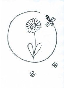 Včelka létá kolem květu