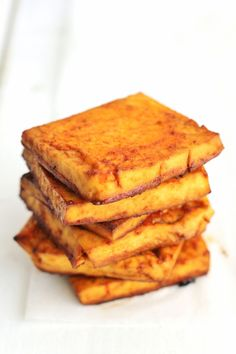 Spicy Maple Baked Tofu