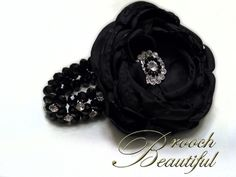 wrist corsages for 2013 homecoming | Black Bling Wrist Corsage | broochbeautiful