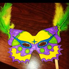 Mardi gras mask for kids