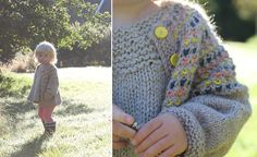 Candy Cardigan - free knitting pattern size 3/4y - Pickles