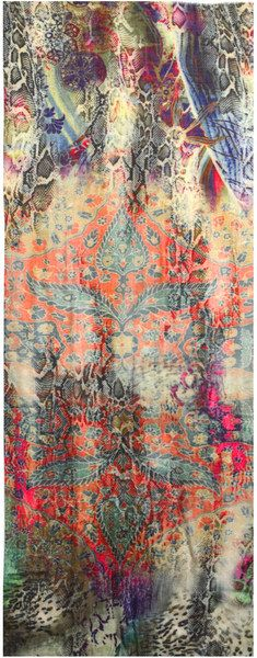 Rossi Paisley Leopardprint Scarf It's actually a scarf but would make beautiful curtains, might try hand painting one