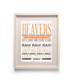 Oregon State University Beavers Fight Song Subway by heycopper, $11.00