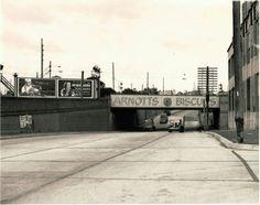 Arnott's Bridge on Parramatta Road, Homebush, NSW cc1930's. v@e