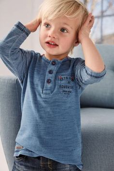 Buy Blue Long Sleeve Grandad (3mths-6yrs) online today at Next: Croatia
