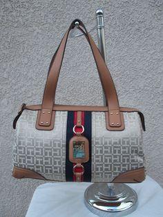 New Handbag Tommy Hilfiger Purse Satchel 6933484 235 Color Beige #TommyHilfiger #Satchel