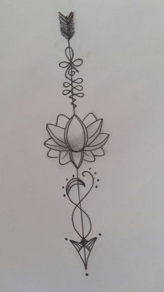 Pin by Eternity is now On Arrow Tattoo Designs Ideas In Lotus Tattoo Design, Henna Tattoo Designs, Arrow Tattoo Design, Lotus Design, Lotus Tattoo Back, Tattoo Ideas, Diy Tattoo, Tattoo Ink, Unalome Tattoo