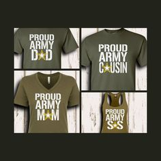 81730a9c STAR Proud Army Family Shirts | U.S. Army | Military | Graduation | Boot  Camp | Deployment | Support | Group | Basic