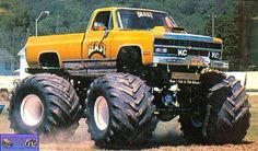 Cool Trucks, Chevy Trucks, Monster Trucks, Monster Jam, Lifted Chevy, Classic Monsters, Back In The Day, Car Show, Old School