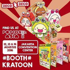 Datang ke Popcon Asia 2016 di Jakarta yuk!! Di sana ada DecoDeco lho Mulai dari tanggal 12 - 14 Agustus 2016 di Jakarta Convention Center. Sis & Bro bisa borong DecoDeco #PiPoYa #PlatinaParlour #ReonReyna di Booth Kratoon. Jangan lupa ajak juga sahabat & keluarga kalian buat datang ke Booth Kratoon #PopconAsia2016 #JakartaConventionCenter #decodeco #decodecoland #decodecoplay #decodecoclub #papertoy #papercraft #dollhouse #popcon #popconasia #decodecopopcon #creative #agustus #jcc #booth…