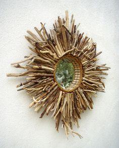 Baja Sunburst Driftwood Mirror  custom created just for your seaside home!