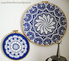 old laces decoration 1 - Crochet Clothing 2019 - 2020 Doilies Crafts, Lace Doilies, Crochet Doilies, Framed Doilies, Crochet Wall Art, Crochet Home, Embroidery Machine Reviews, Doily Art, Embroidery Hoop Crafts