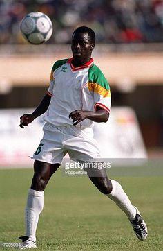 Football 2002 World Cup Qualifier African Second Round Group C 21st April 2001 Dakar Senegal Senegal 3 v Algeria 0 Senegal's El Hadji Sarr