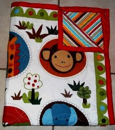 Baby Quilt Zoo Animals HandStitched by HollyHomemadeGoodies, $65.00