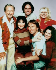 "The TV show ""Three's Company"" ran from 1976 to 1984 and was based on a man name Jack Tripper who pretended to be gay so he could share an apartment with two other women, Chrissy Snow played by Suzanne Somers, and Janet Wood played by Joyce DeWitt.  Later when Somers left the show, a new roommate Terri Alden entered the cast and was played by Priscilla Barnes.  Read the full story>>"