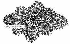 crochet pineapple coaster pattern - Google Search