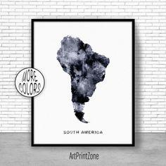 $8.00 South America Map, South America Print, Map of South America, USA Map Wall Art Print Travel Map, Travel Decor, Office Decor, Office Wall Art #SouthAmericaPrint #OfficeDecor #TravelMap #SouthAmericaMap #Prints #BlackAndWhiteArt #MapWallArtPrint #OfficeWallArt #ArtPrint #TravelDecor