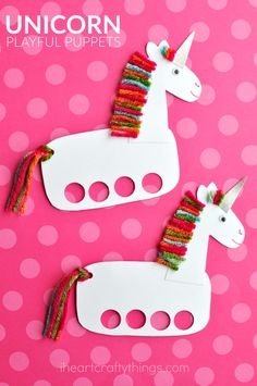20 Unique Unicorn Crafts for Kids Unicorns are probably the sweetest mythological creatures around! Spread some magic everywhere with these unique unicorn crafts for kids that are just gorgeous! Unicorn Kids, Unicorn Crafts, Horse Crafts, Animal Crafts, Unicorn Party, Unicorn Birthday, Fun Crafts For Kids, Preschool Crafts, Projects For Kids