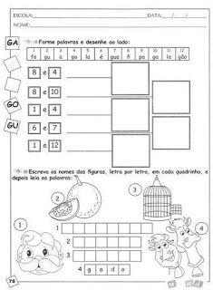 Família silábica letra G - atividades - VilaClub