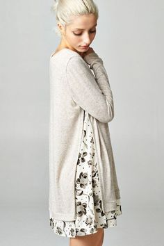 white tunic over dress