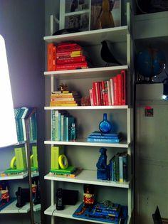 P.S.- I made this...colorblock bookshelf  #psimadethis #colorblock