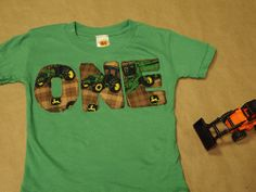 this is gonna be his birthday shirt with a two of course! John Deere Kids, John Deere Party, Baby First Birthday, 4th Birthday Parties, Birthday Ideas, Tractor Birthday, Cowboy Party, Birthday Shirts, First Birthdays