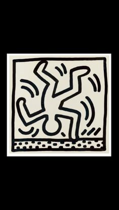 "Keith Haring - "" Untitled "" 1983 - Ink on paper - 317 x 317 cm Acid Trip Art, Jm Basquiat, Keith Allen, Keith Haring Art, 4th Grade Art, Modern Pop Art, Graffiti Drawing, Drawing Skills, Art Classroom"