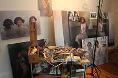 Korin Faught Studio. Appreciate all the reference material that is kept out for pic.