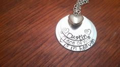 Hand stamped personalized Memorial necklace by ByalittlebitofFaith, $28.00
