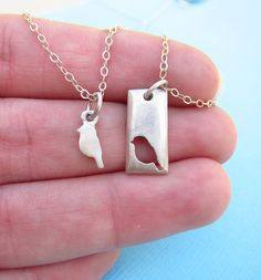 Little Bird Mother Daughter Necklace Set. There will always be an empty place in my heart...