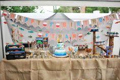 Kara's Party Ideas Gone Fishing Birthday Party - Kara's Party Ideas - The Place for All Things Party