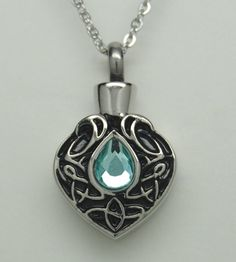 TEAR CREMATION URN NECKLACE CREMATION JEWELRY TEARDROP MEMORIAL KEEPSAKE
