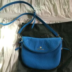 Blue Vince Camuto Leather Crossbody Brand new without tags!! Never used!! Vince Camuto Bags Crossbody Bags