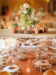 succulent wedding ideas http://www.weddingchicks.com/2013/11/21/mint-and-gold-wedding/