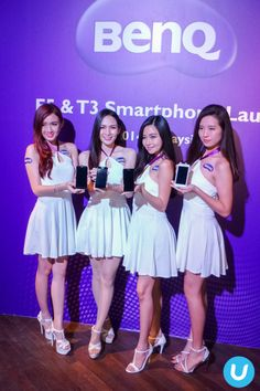 #BenQ ambassadors with the new 4G LTE F5 and T3 phones.