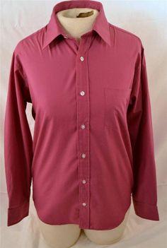 Retro Ladie's Size 16 Long Sleeve Cotton Poly Blend Blouse #Retro #Blouse