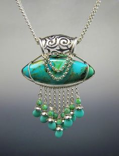 Necklace by Lisa Barth - Turquoise and sterling silver