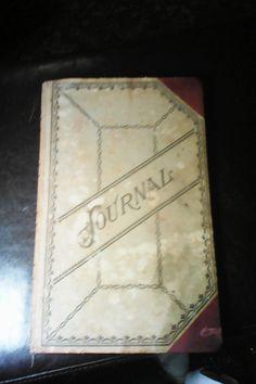 1940s Journal/Ledger Book/stamped numbered by vintagetreasuremap