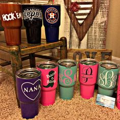 New Dirt and Glitter Boutique custom powder coated YETI Ramblers going out! Order yours today!!