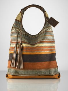Made from a $20 Mexican blanket.   Serape Large Hobo by Ralph Lauren $595