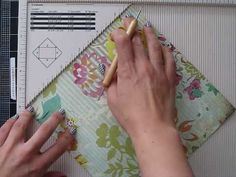 how to make an envelope using the Martha Stewart score board.