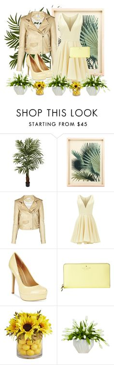 """Untitled #500"" by annsofisweden ❤ liked on Polyvore featuring Nearly Natural, IRO, Allison Parris, Chinese Laundry, Kate Spade, Pier 1 Imports and Lux-Art Silks"