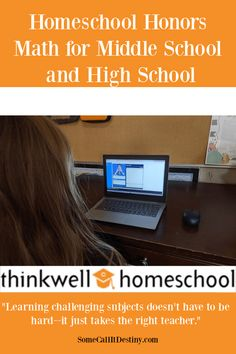Thinkwell has online homeschool classes. They have both regular and honors classes for Middle School math, High School math and High School science. They also offer college level math classes for high school and rosetta stone language courses. High School Science, Homeschool High School, Homeschool Curriculum, College Math, Math Courses, Rosetta Stone, Math About Me, High School Students, Middle School