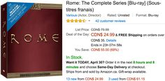 Amazon Canada Deals Of The Day: Save 69% on Rome  The Complete Series 46% on DHP Imagination Castle Junior Lof... http://www.lavahotdeals.com/ca/cheap/amazon-canada-deals-day-save-69-rome-complete/195740?utm_source=pinterest&utm_medium=rss&utm_campaign=at_lavahotdeals