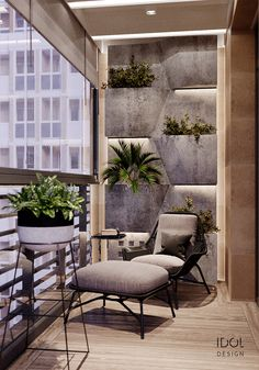 Nice 35 Modern Balcony Design Ideas The new style of architecture that mixes modern and contemporary styles seems to be winning. The evidence is easy to see in how long it takes a new home to sell. Modern Balcony, Small Balcony Decor, Small Balcony Design, Terrace Design, Balcony Ideas, Tiny Balcony, Garden Design, Balcony Tv, Small Balcony Furniture