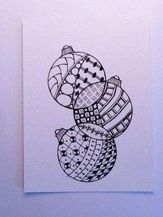 Onderwijs en zo voort ........: 4426. December Zentangle : Kerstballen