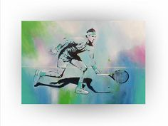 Rafael Nadal Tennis painting Abstract Original #art #painting @EtsyMktgTool http://etsy.me/2ijl9aI