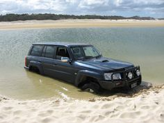 Fraser Island is accessible by 4WD vehicle but you must travel around low tide.