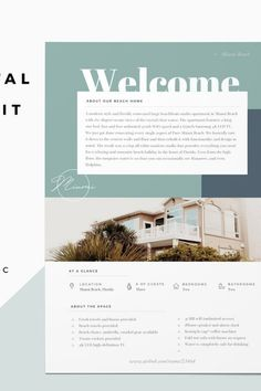 Airbnb Welcome Book Template Design Brochure, Creative Brochure, Brochure Layout, Brochure Template, Creative Business, Business Ideas, Page Design, Book Design, Layout Design